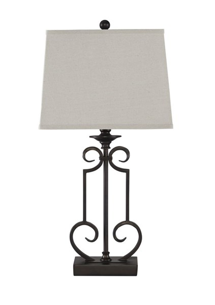 2 Ainslie Traditional Bronze Metal Table Lamps L208034