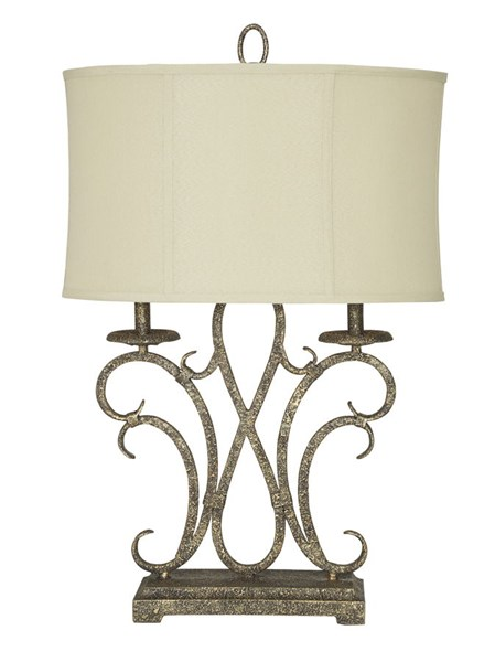 Aira Traditional Antique Gold Metal Table Lamp L208054