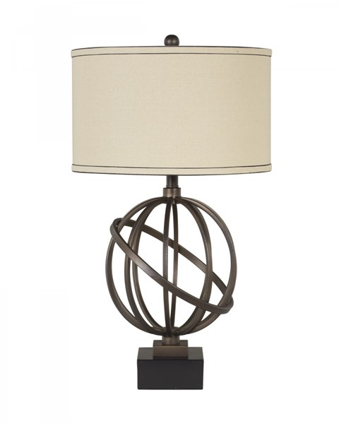 2 Shadell Textured Bronze & Black Metal Table Lamp L211894