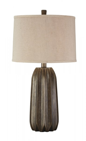 Khalil Contemporary Brown Poly Table Lamp (1/CN) L235014