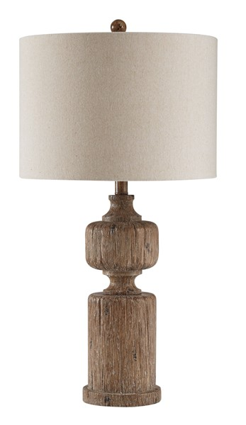 Ashley Furniture Madelief Brown Poly Table Lamp L235384