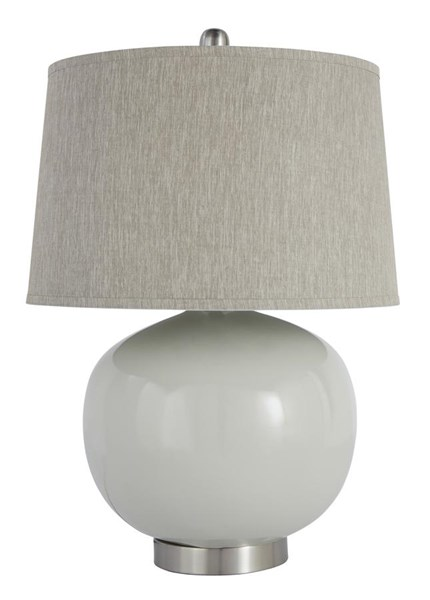 Savita Contemporary Light Gray Black Table Lamp L2354-LMP-VAR