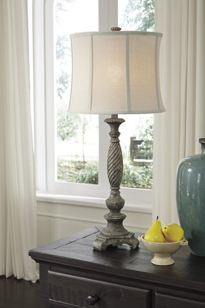 Alinae Traditional Antique Gray Poly Table Lamp L235484