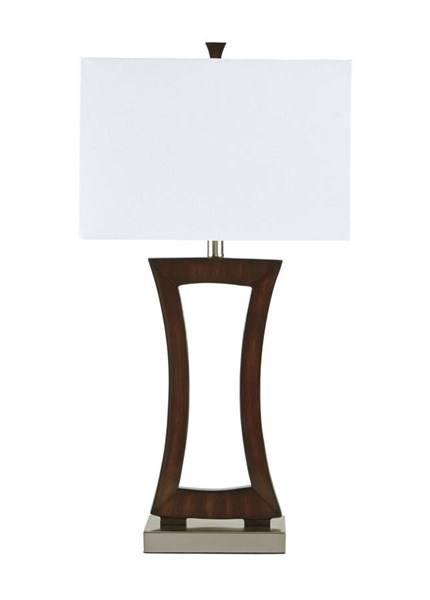 Danon Contemporary Brown Metal Poly Table Lamp L235524
