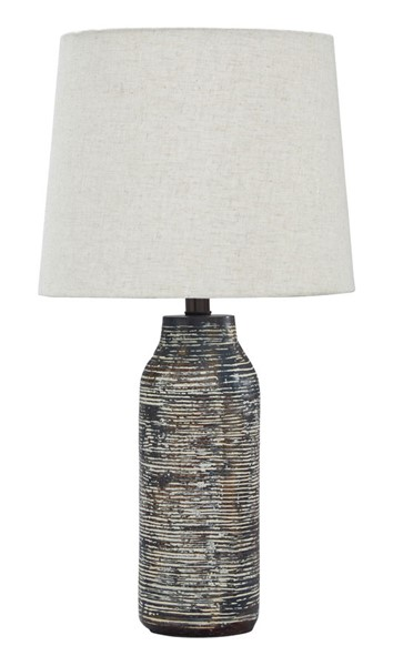 2 Mahima Casual Black White Paper Table Lamps L235584