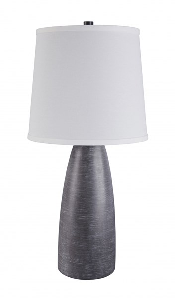 2 Shavontae Contemporary Gray Poly Table Lamps L243004