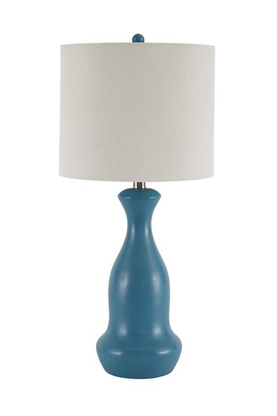 Stellina Contemporary Teal Poly Table Lamp (2/CN) L243084
