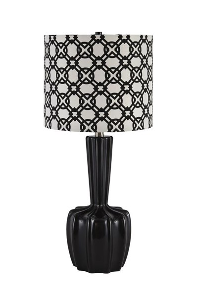Sharitey Contemporary Black Poly Table Lamp (2/CN) L243124
