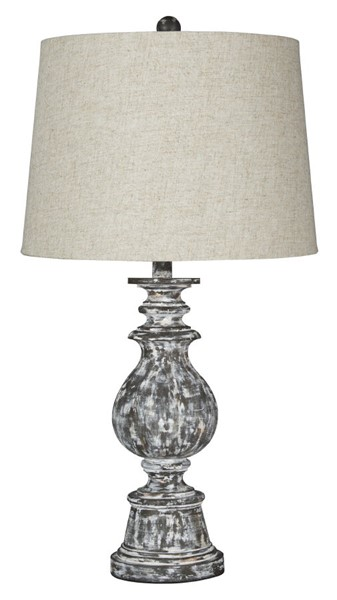 2 Ashley Furniture Macawi Antique Brown Poly Table Lamps L243254