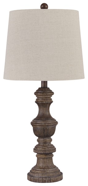 2 Ashley Furniture Magaly Brown Poly Table Lamps L276024