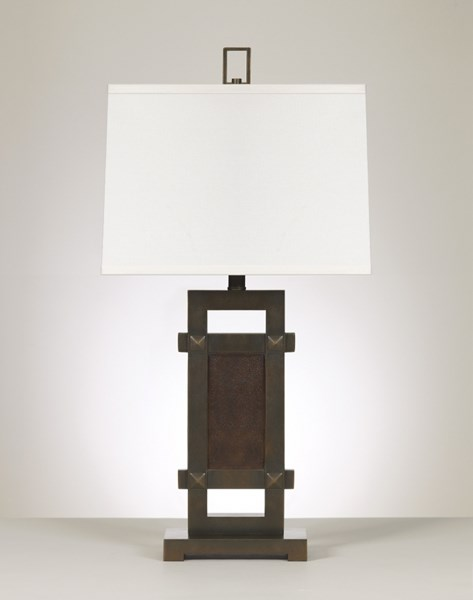 Sesen Bronze & Faux Leather Ceramic Poly Table Lamp L319834