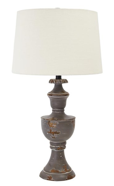 Shaelyn Vintage Casual Aged Gray Wood Table Lamp (1/CN) L327074