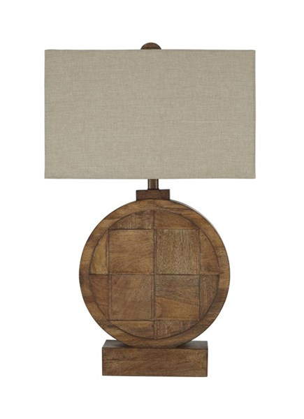 Shonalee Contemporary Natural Brown Wood Table Lamp (1/CN) L327114