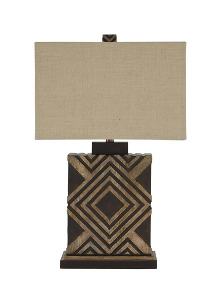 Sirsa Contemporary Natural Brown Wood Table Lamp (1/CN) L327124