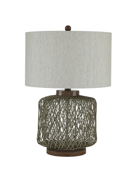 Simmona Vintage Casual Taupe Table Lamp (1/CN) L327134