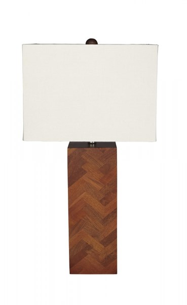 Tabeal Contemporary Brown Wood Table Lamp L327184