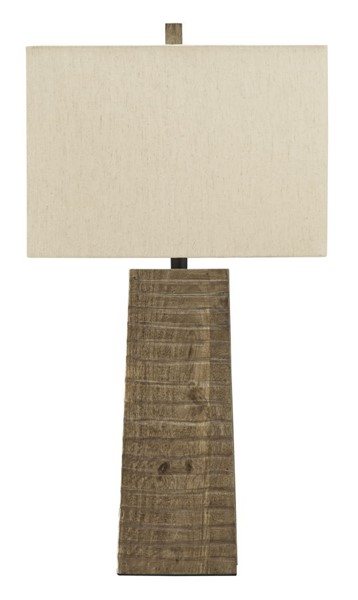 Ashley Furniture Deonte Brown Wood Table Lamp L329004