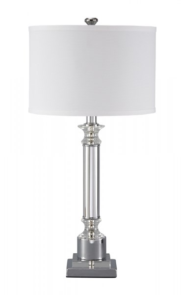 Marlon Traditional Classics Clear Silver Finish Metal Table Lamp L428044
