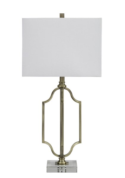 Arabela Contemporary Antique Brass Metal Table Lamp L428054