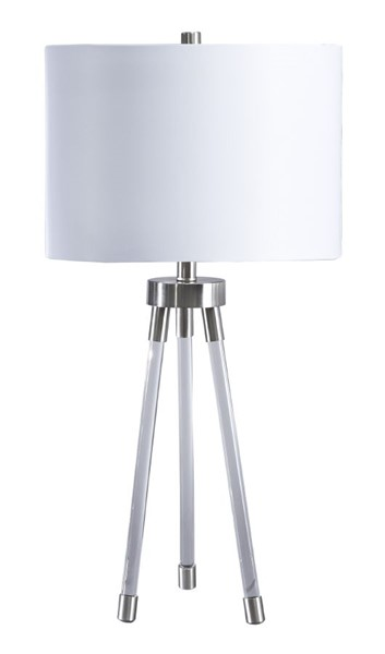 Ashley Furniture Idalia Clear Silver Acrylic Table Lamp L428134