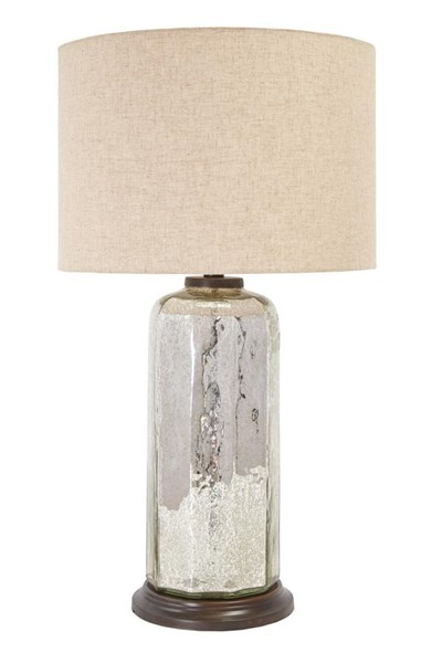 Sharlie Vintage Casual Silver Finish Glass Table Lamp (1/CN) L430084