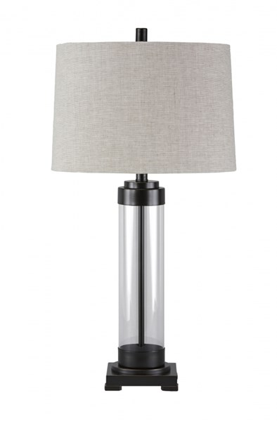 Talar Urbanology Clear Bronze Silver Finish Glass Table Lamps (1/CN) TALAR-VAR2