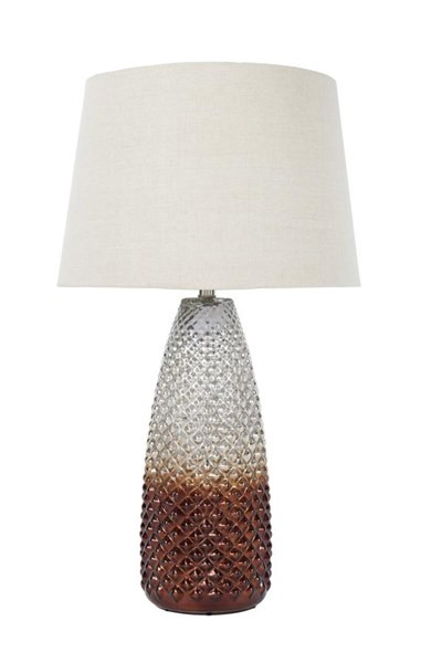 Shavondra Vintage Casual Brown Silver Finish Glass Table Lamp (1/CN) L430234