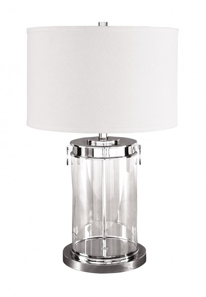 Tailynn Contemporary Clear Silver Finish Glass Table Lamp (1/CN) L430244