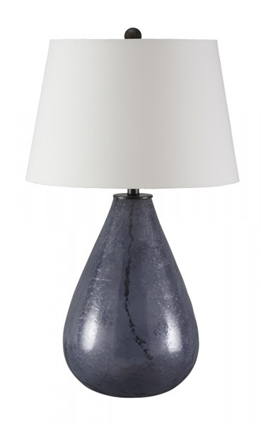 Taber Vintage Casual Blue Glass Table Lamp L430284