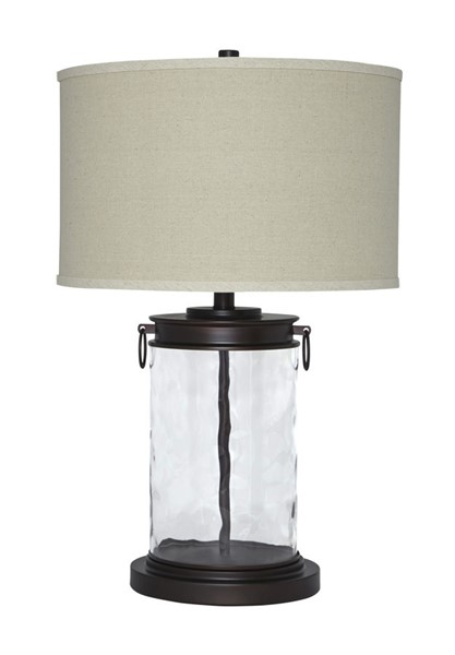 Tailynn Casual Clear Bronze Metal Glass Table Lamp L430324
