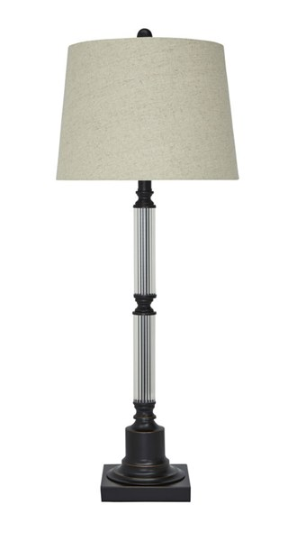 Arenda Traditional Bronze Clear Metal Glass Table Lamp L430364