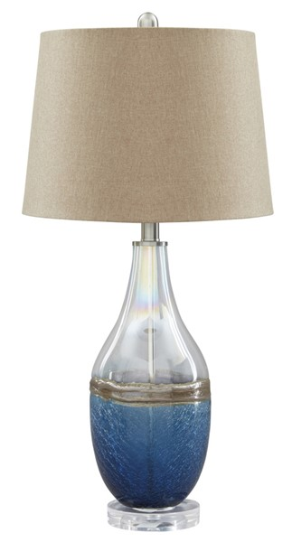 2 Ashley Furniture Johanna Clear Glass Table Lamps L430514