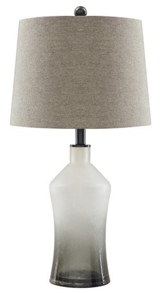 2 Ashley Furniture Nollie Gray Glass Table Lamps L430534