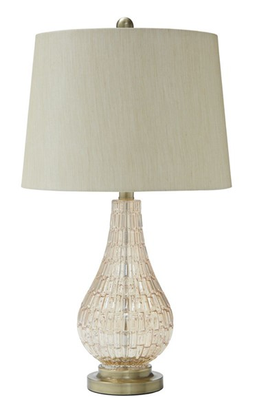 Ashley Furniture Latoya Champagne Glass Table Lamp L430594