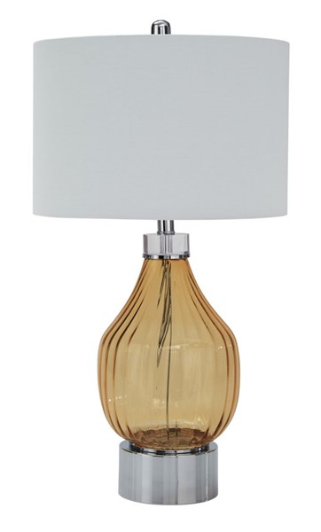 Ashley Furniture Martirio Amber Glass Table Lamp L430604