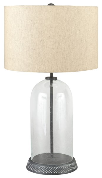 Ashley Furniture Manelin Clear Gray Glass Table Lamp L430624
