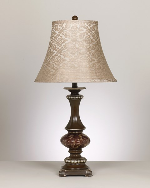 2 Rosemary Bronze & Antique Silver Metal Ceramic Poly Table Lamps L443784