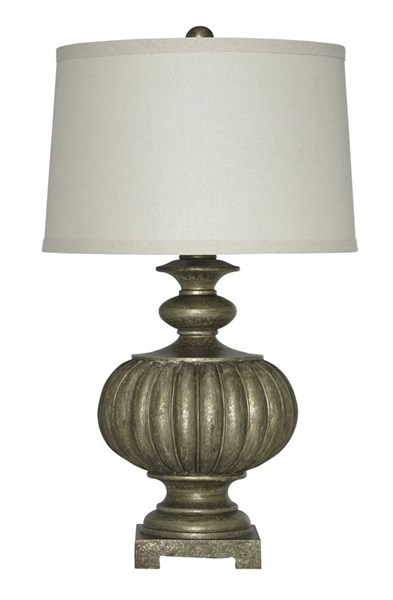 Araminta Traditional Antique Gray Poly Table Lamp L511944