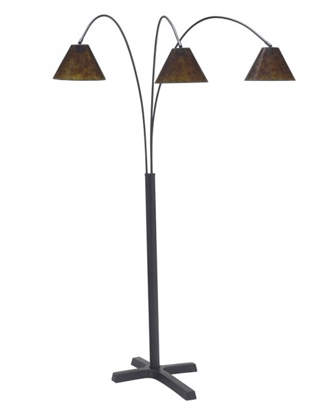 Sharde Casual Matte Black Metal Arc Lamp L725049