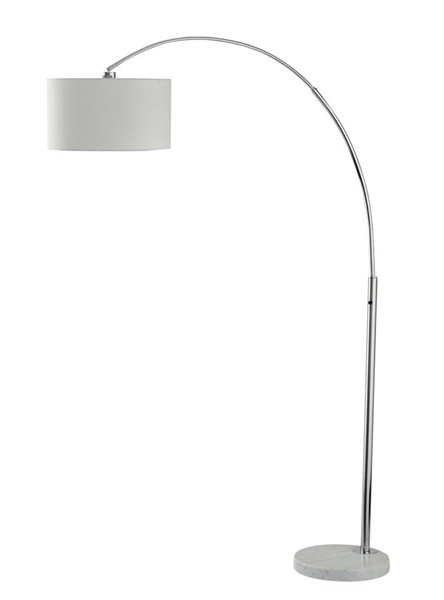 Areclia Contemporary Chrome Metal Arc Lamp L725079