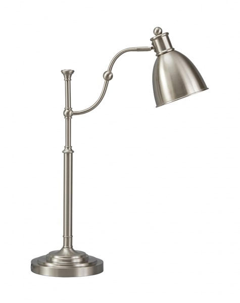 Shavaun Vintage Casual Brushed Silver Finish Metal Desk Lamp SHAVAUN-VAR2