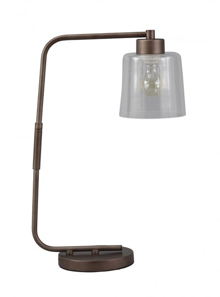 Kyron Urbanology Clear Bronze Finish Metal Desk Lamp (1/CN) L734162