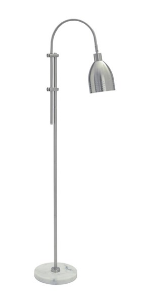 Asabi Contemporary Silver Marble Metal Floor Lamp L734191