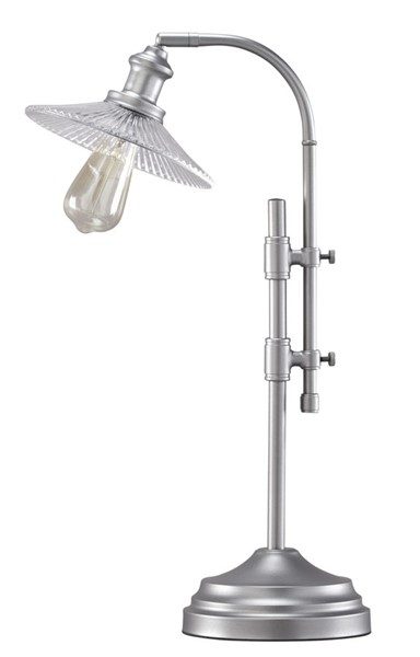 Ashley Furniture Noam Silver Metal Desk Lamp L734272