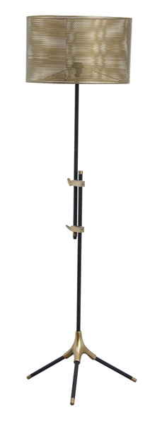 Ashley Furniture Mance Gray Brass Metal Floor Lamp L734291