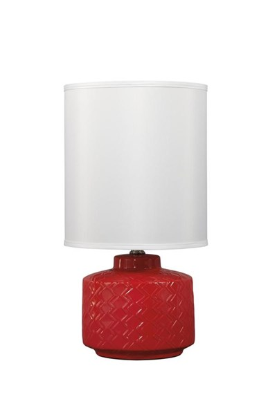 Shonna Contemporary Red Ceramic Table Lamp (1/CN) L800034
