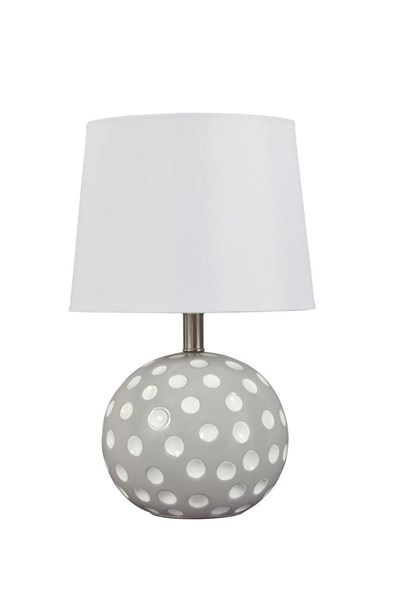 Socaria Contemporary Gray Pink Table Lamps L80001-TBLMP-VAR