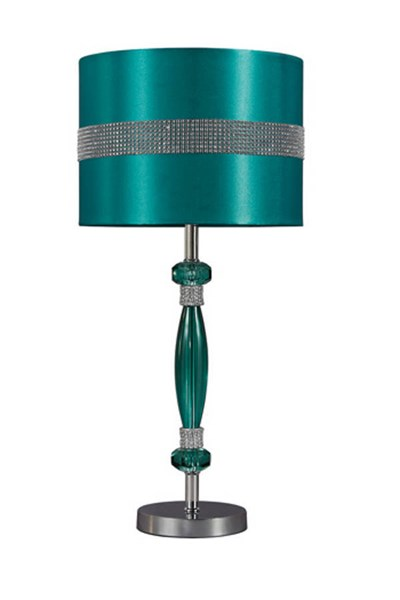 Table Lamp Contemporary Teal Silver Acrylic Table Lamp (1/CN) L801644