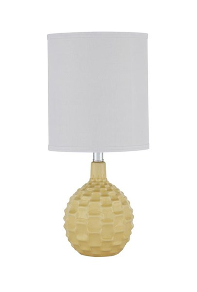 Sondre Contemporary Yellow Ceramic Table Lamp (1/CN) L857434