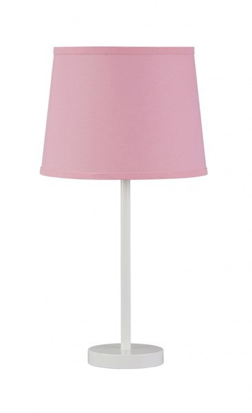 Shonie Contemporary White Pink Metal Table Lamp (1/CN) L857494
